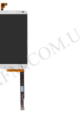 Дисплей (LCD) Alcatel 6037 One Touch Idol 2 с сенсором белый*