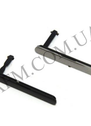 Боковая заглушка Sony E6833 Xperia Z5 Premium/ E6883 серебряная*