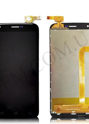 Дисплей (LCD) Doogee Y100/ Y100 Pro/ Valencia 2 с сенсором чёрный