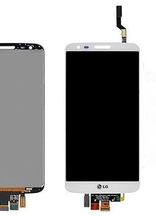 Дисплей (LCD) LG D802 G2/ D805 G2 с сенсором белый