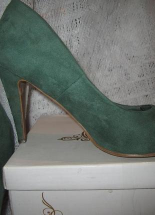 Туфли лодочки, зеленого цвета, стильные туфли лодочки, туфли с...