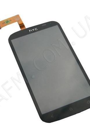 Дисплей (LCD) HTC T328e Desire X с сенсором чёрный*