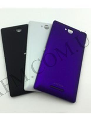 Задняя крышка Sony C2305 S39h Xperia C чёрная