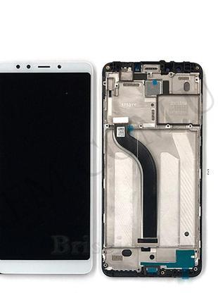 Дисплей (LCD) Xiaomi Redmi 5 с сенсором белый + рамка
