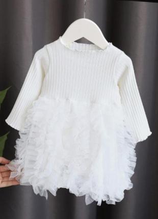 Платье рюш фатин юбка нарядное