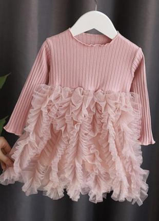 Платье нарядное  рюш для модницы