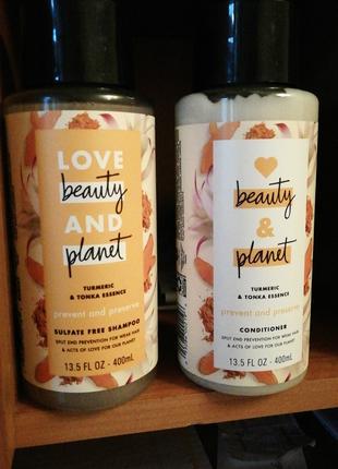Love beauty and planet. Набор шампунь и кондиционер