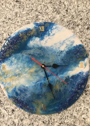 Авторские Часы из эпоксидной смолы в стиле Resin Art Sh.G.