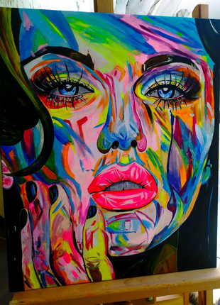 Картина в стиле Поп-Арт, лицо девушки