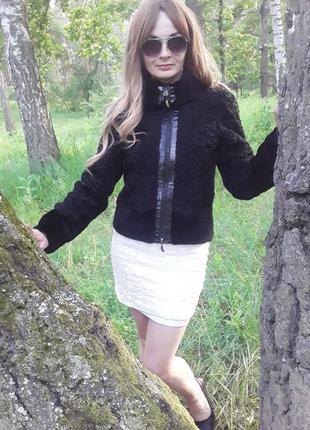 Куртка-шуба из каракуля с мутоном