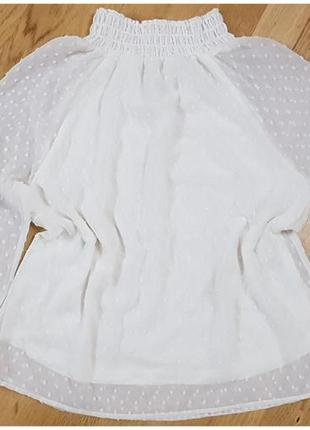 Белая шифоновая блуза free quent