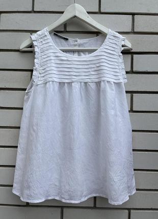 Шелковая белая блузка kookai
