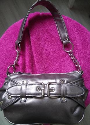 Оригинальная бронзовая мини сумочка клатч золотой кошелёк сумк...
