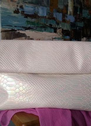 Перламутровая сумка клатч косметичка new look под кожу рептили...