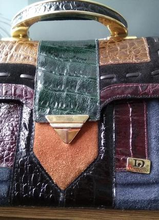 Шикарная сумка кросс боди сумочка кожаная клатч