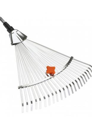 Грабли стальные веерные регулируемые Gardena Combisystem 30-50 см