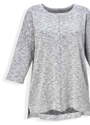 Меланжевый пуловер из вискозы от giada , германия р. 44 - 46 е...
