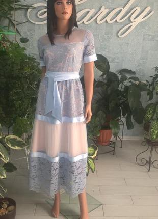 Платье нарядное больших размеров, на праздник, событие, код 1932м