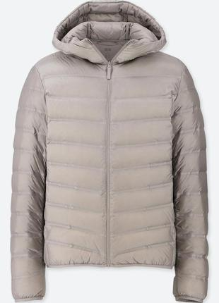 Бесшовная теплая куртка парка пуховик uniqlo ultra-light down