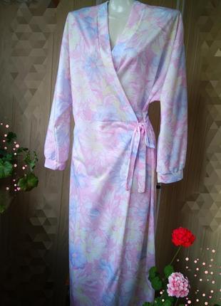 Нежный женский халат цветочный принт