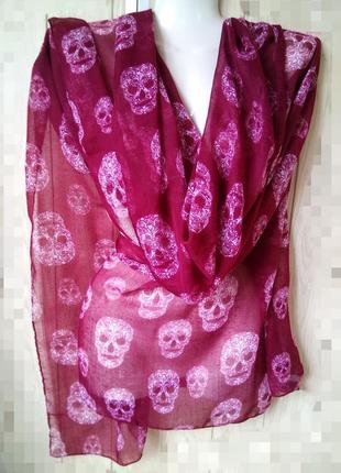 Стильный красный палантин платок шарф повязка на голову divide...