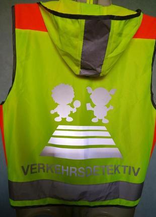 Светоотражающий детский жилет безопасности ребенка сигнальный