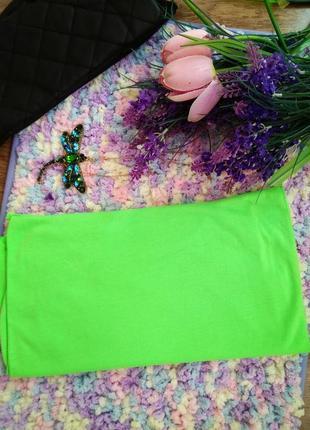 Модный кислотный трикотажный ультра салатовый снуд шарф хомут ...