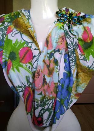 Очаровательный снуд шарф палантин платок цветочный принт