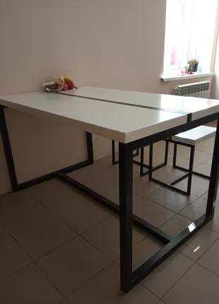 """Стол обеденный(для дома или офиса) в стиле """"Лофт"""" + 4 стула"""