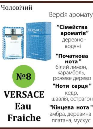 VIBE&DRIVE; Версия аромата VERSACE EAU FRAICHE подвеска 7 мл