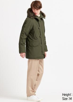 Мужская куртка парка uniqlo с мехом
