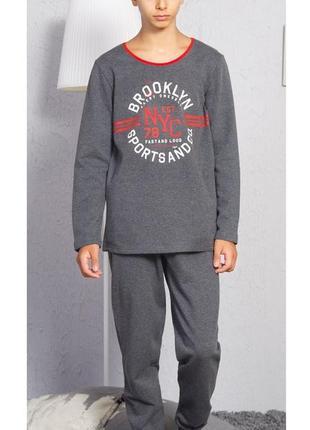 Тёплые пижамы для мальчиков на 9-10,  15-16  лет байка