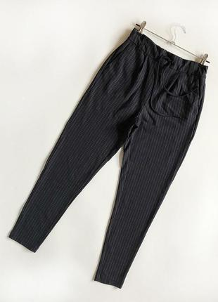 Идеальные зауженные брюки с высокой посадкой only (джоггеры)