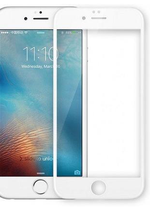 Защитное стекло iPhone 6/ 6S чёрное/белое (небьющиеся)