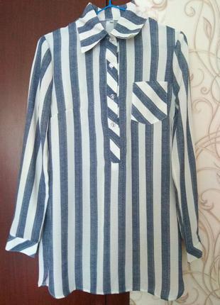Рубашка удлинённая
