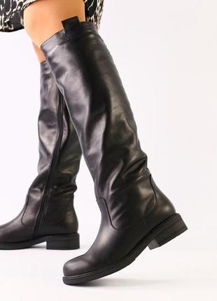 Lux обувь 😍натуральные зимние кожаные высокие сапоги
