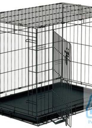 Металлическая клетка для собак, усиленная, двух дверная.