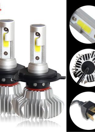 Автомобильные  светодиодные LED лампы ближнего света 6500 LM
