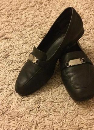 Туфли кожаные, размер 38.