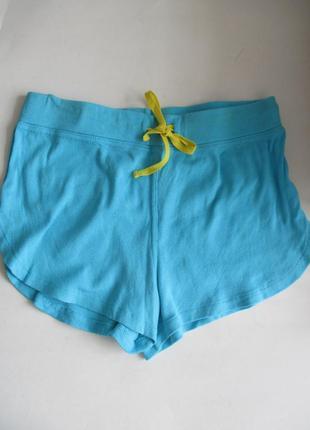 Трикотажные голубые шорты atmosphere, подарю при покупке любой...