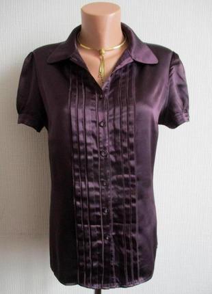 Приталенная атласная блуза, подарю при покупке любой вещи