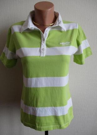 Трикотажная футболка -поло с воротником в полоску four winds
