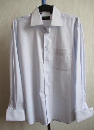 Мужская рубашка в полоску с длинным рукавом enriko