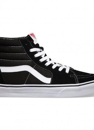 Кеди Vans SK8-HI BLACK/WHITE.