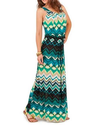 Длинное макси платье из трикотажа pistachio