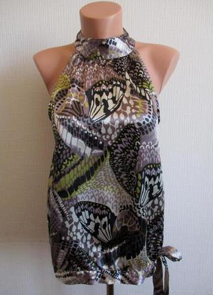 Атласная блуза с пайетками next