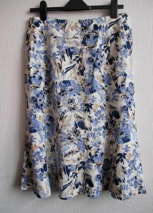 Льняная юбка в цветочный принт isle ewm