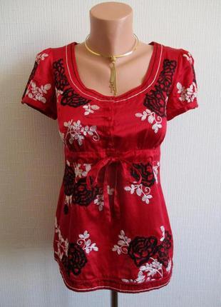 Шелковая блуза с  вышивкой monsoon