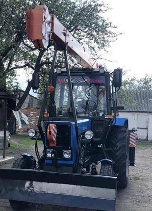 Трактор МТЗ-80 с установкой ОПТ-9195