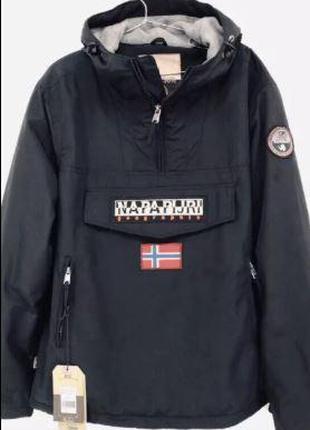 Куртка Napapijri. Анорак Napapijri Black/Red. Napa. Напапірі м...